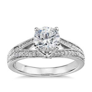 2.20 Ct solitaire with accent CVD diamonds Wedding